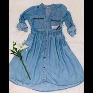 DEX Denim Dress size S NWT!